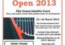 NORTHUMBRIA OPEN 2013