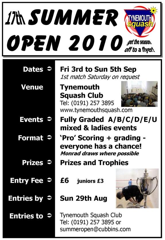 summer open 2010 poster