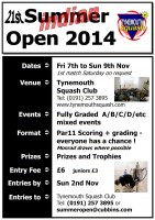 Summer Open 2014 Poster