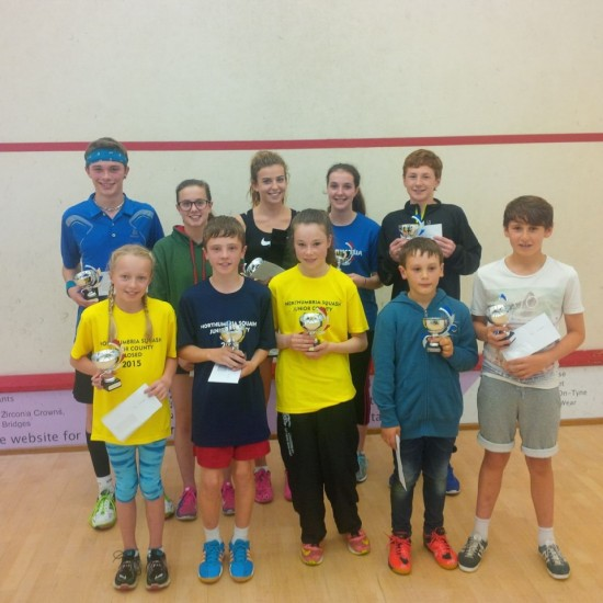 All the winners: Back row, left to right, Jamie Todd, Lowri Waugh, Josie Barker, Georgia Webster, Michael Mattimore Front row: Willow Morris, Matthew Thompson, Katie Merlane, Ollie Forster, Max Forster