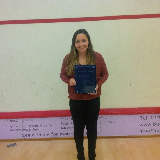 Lucy Beecroft with her Special Achievement award