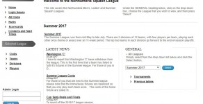 Northumbria Squash Summer League 2017 Bulletin