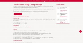 Junior Inter County Championship and Trophy Finals 2018