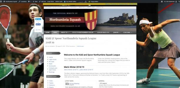 Kidd & Spoor Northumbria Squash League 2018/19