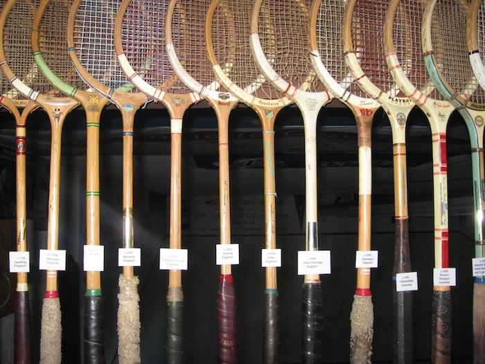 Old squash rackets