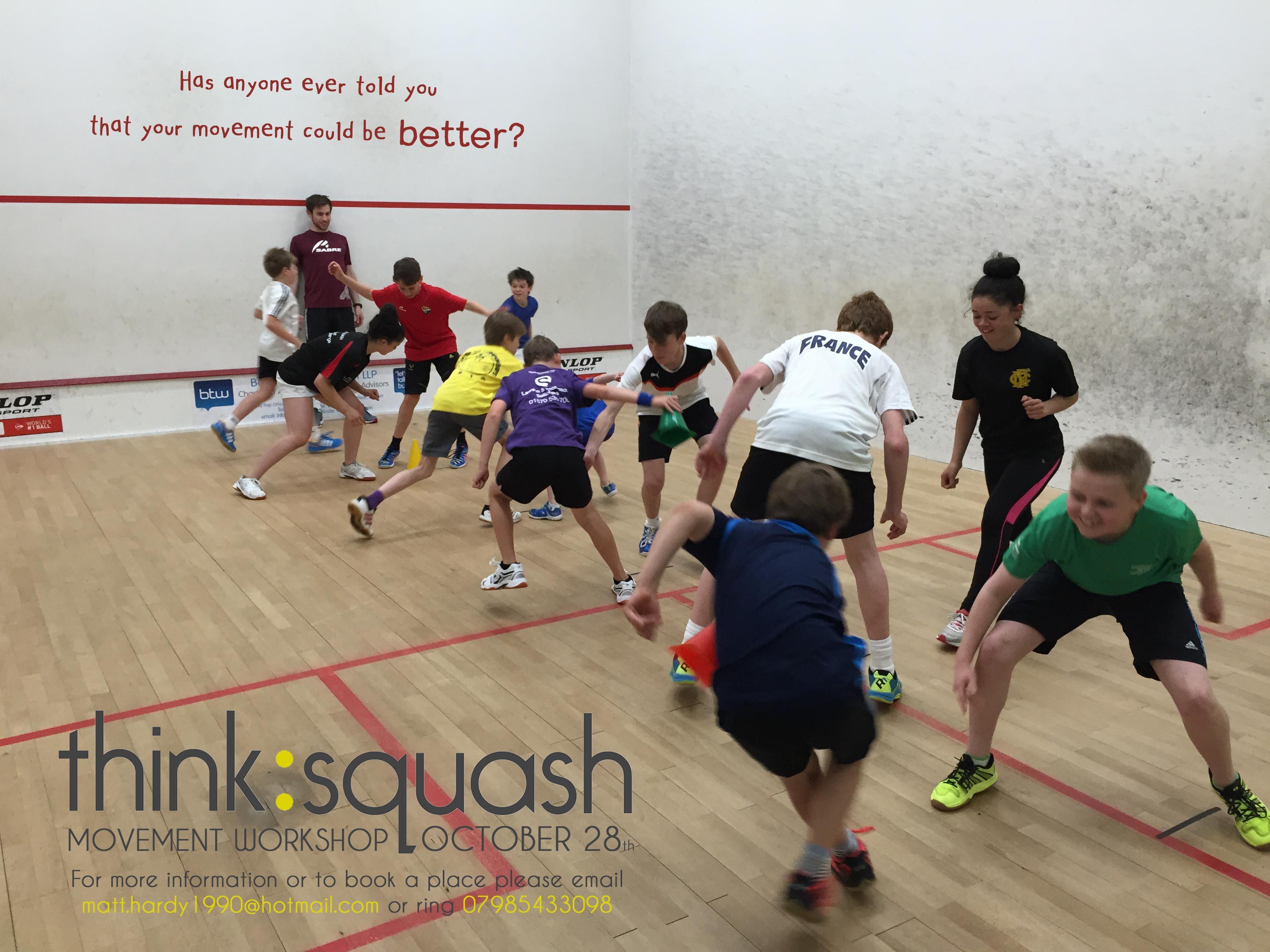 Think Squash – Movement Workshop 28th October